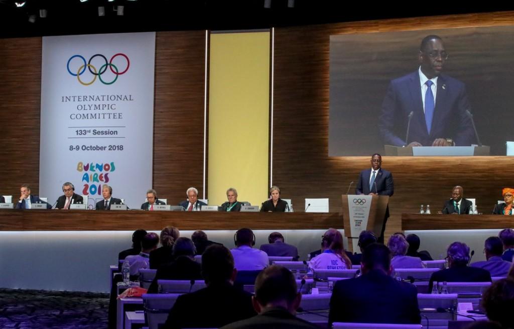 Message de Son Excellence Monsieur Macky Sall, Président de la République du Sénégal, devant le Comité international olympique