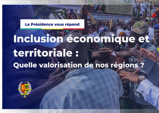 La Présidence vous répond - inclusion économique et territoriale